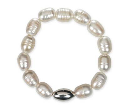 SIMON SEBBAG STRETCH FACETED NUDE CRYSTAL BRACELET