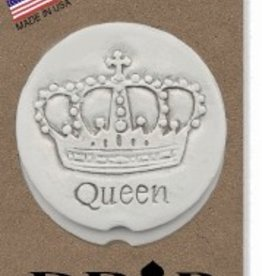 CROWN QUEEN CAR COASTERS 2-PK