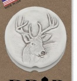 DEER CAR COASTERS 2-PK