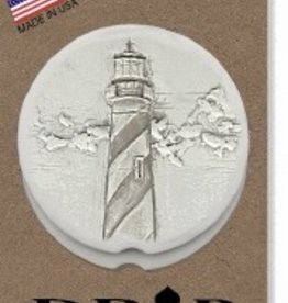SPIRAL LIGHTHOUSE CAR COASTERS 2-PK