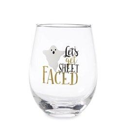 MUD PIE STEMLESS HALLOWEEN WINE GLASS