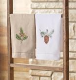 MUD PIE ACORN & PINE CONE LINEN TOWEL