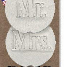 MR & MRS CAR COASTERS 2-PK
