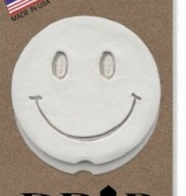 SMILEY FACE CAR COASTERS 2-PK