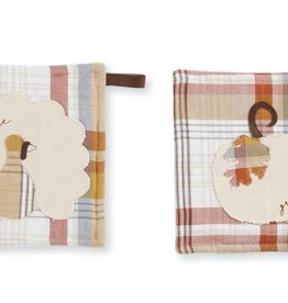 MUD PIE PLAID GATHER POTHOLDER