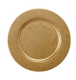 MUD PIE GOLD METALLIC CHARGER PLATE
