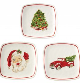 MUD PIE VINTAGE CHRISTMAS PLATE