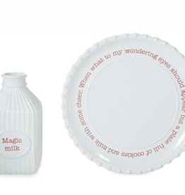 MUD PIE CERAMIC MILK & COOKIE SET