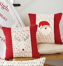 MUD PIE CHRISTMAS CHARACTER & SENTIMENT PILLOW WRAPS