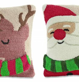 MUD PIE CHRISTMAS CHARACTER SCARF HOOKED PILLOW