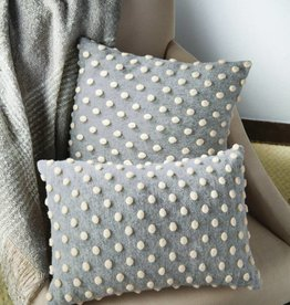 MUD PIE HEATHERED POM POM PILLOWS