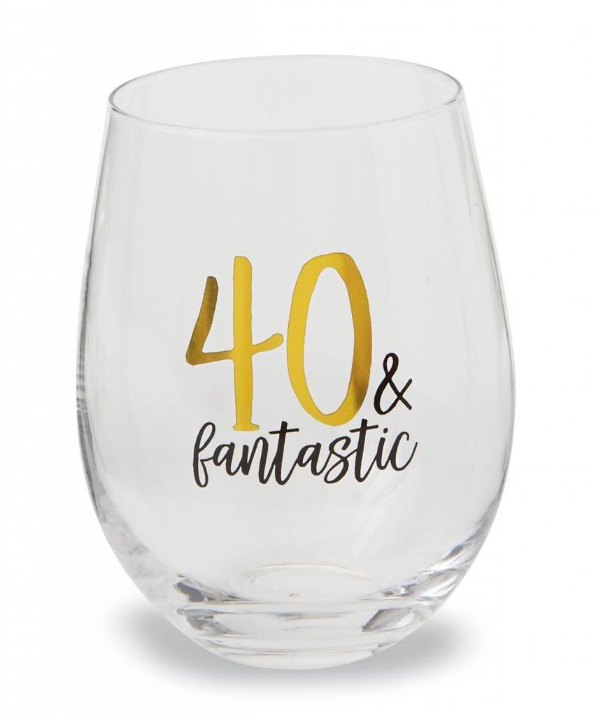 MUD PIE 40 WINE GLASS