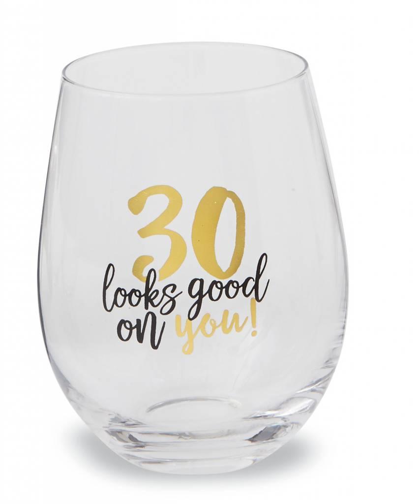MUD PIE 30 WINE GLASS
