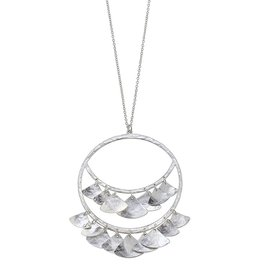 CANVAS PENELOPE HAMMERED PETALS NECKLACE- SILVER