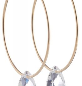 ENEWTON ENDLESS GOLD HOOP EARRING-ICE BLUE