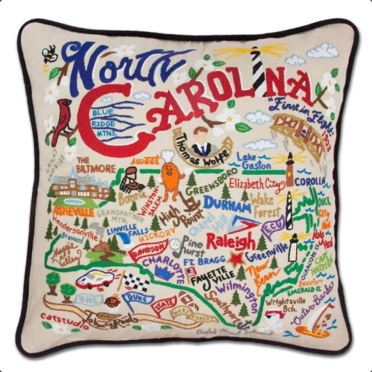 CATSTUDIO CATSTUDIO GEOGRAPHY PILLOW
