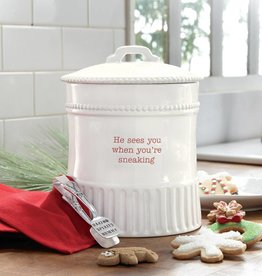 MUD PIE HOLIDAY COOKIE JAR SET