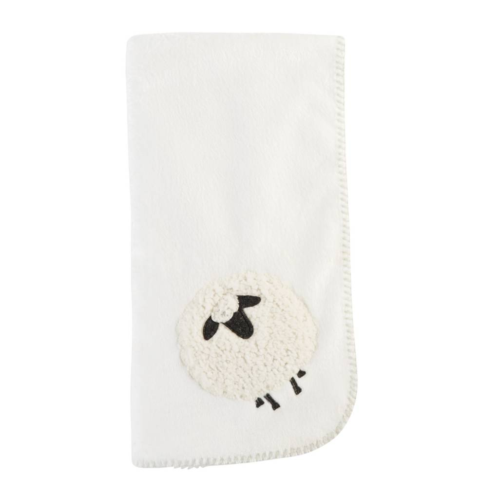 MUD PIE SHEEP FLEECE BLANKET