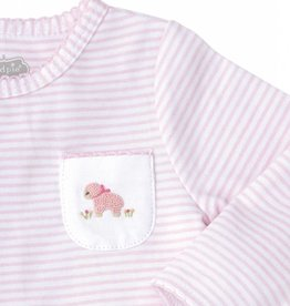 MUD PIE FRENCH KNOT LAMB SLEEPER