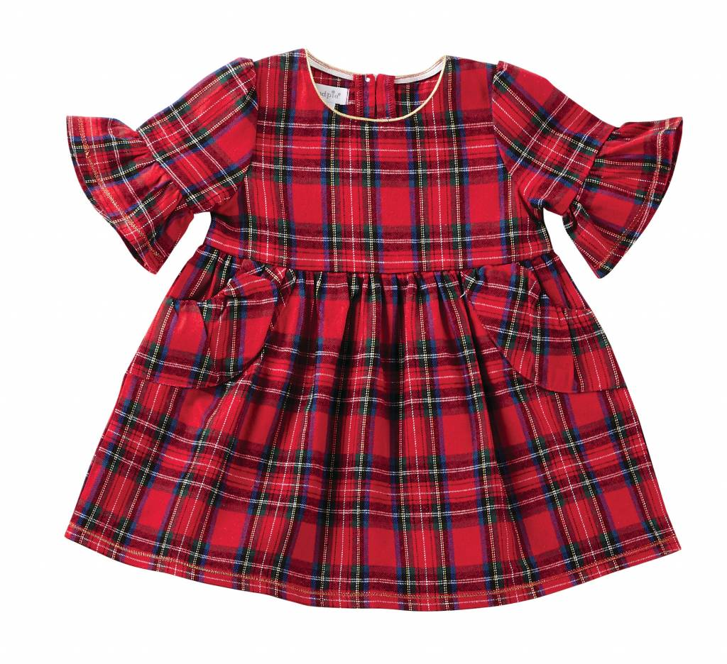 MUD PIE TARTAN PLAID DRESS