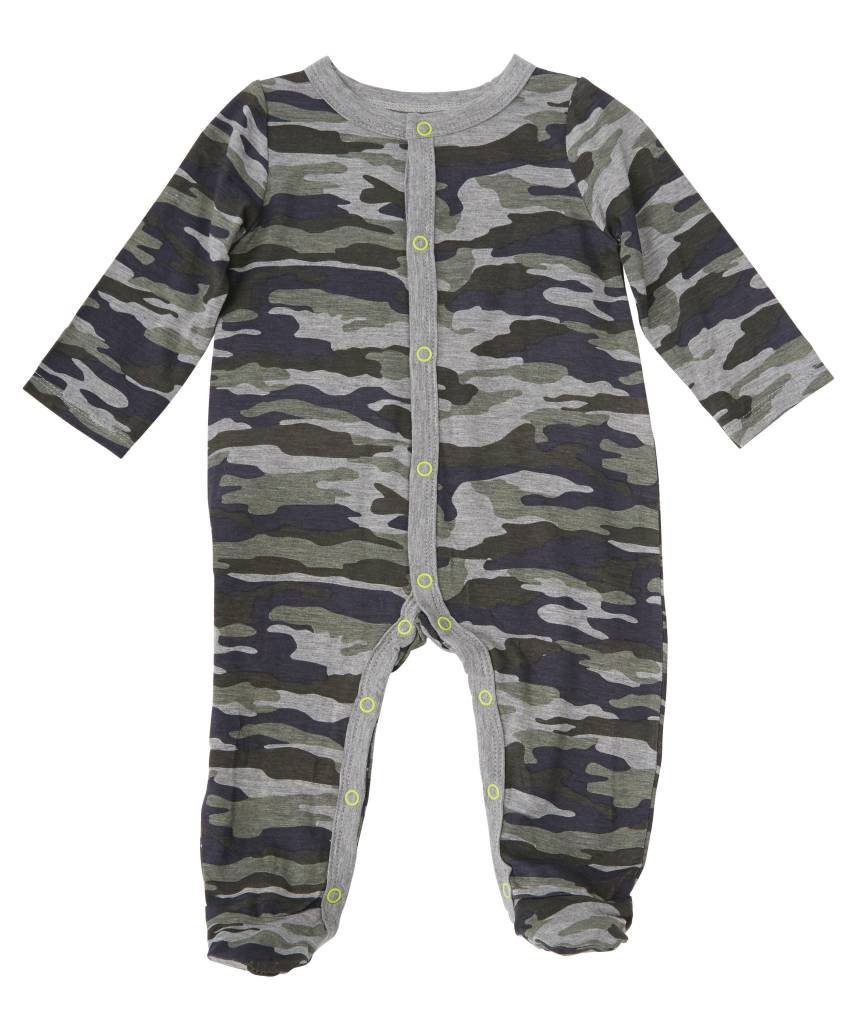 MUD PIE CAMO FOOTED SLEEPER