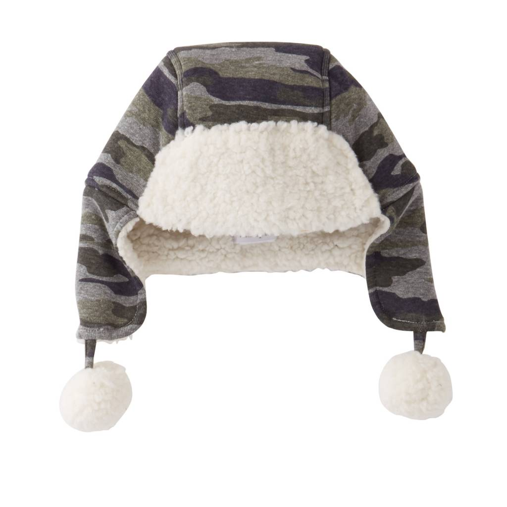 MUD PIE CAMO SHERPA TOBBOGAN- TODDLER