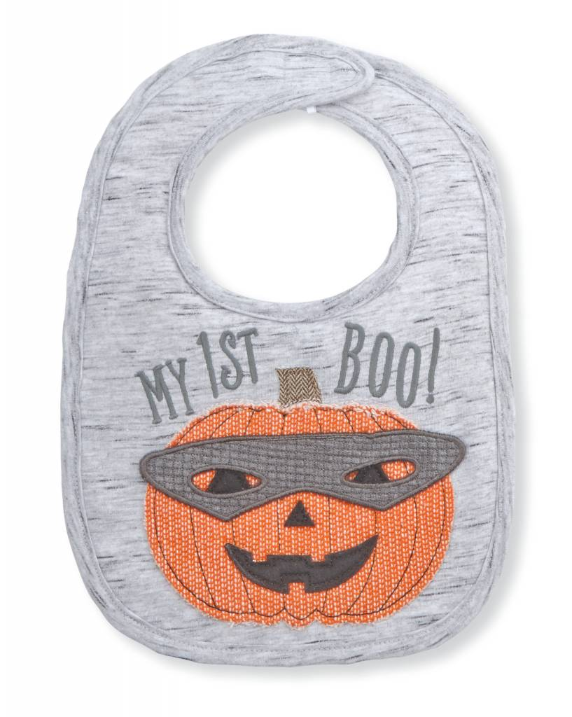 MUD PIE JACK-O-LANTERN SENTIMENT BIB
