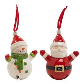 CERAMIC CHARACTER BELL ORNAMENT