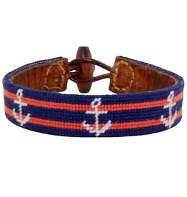 SMATHERS & BRANSON STRIPED ANCHOR BRACELET
