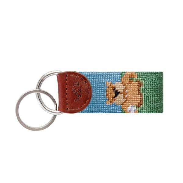 SMATHERS & BRANSON GOPHER NEEDLEPOINT KEY FOB