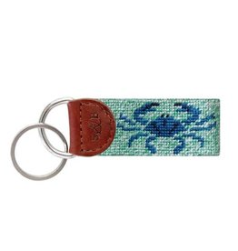 SMATHERS & BRANSON BLUE CRAB NEEDLEPOINT KEY FOB