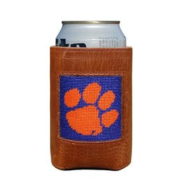 SMATHERS & BRANSON COLLEGIATE CAN COOLER CLEMSON- PURPLE & ORANGE