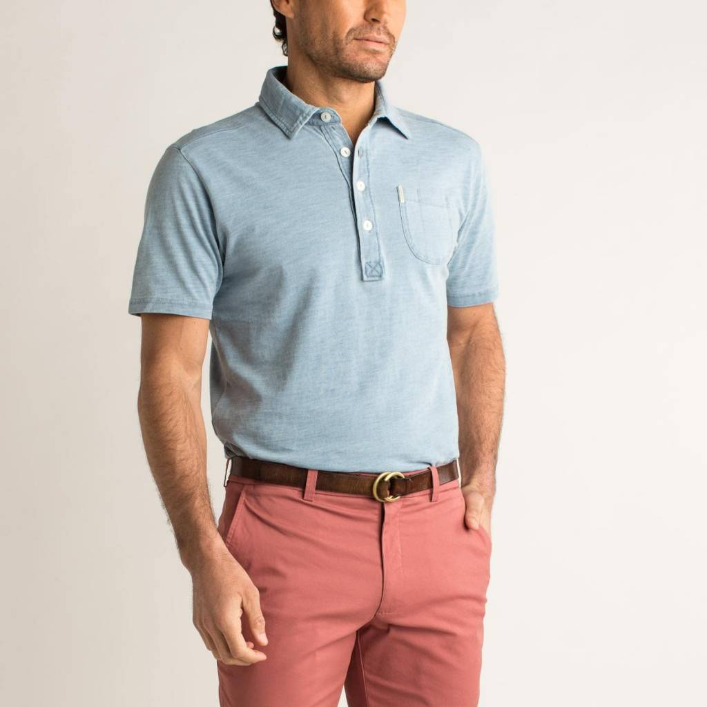 DUCK HEAD INDIGO SOLID POLO