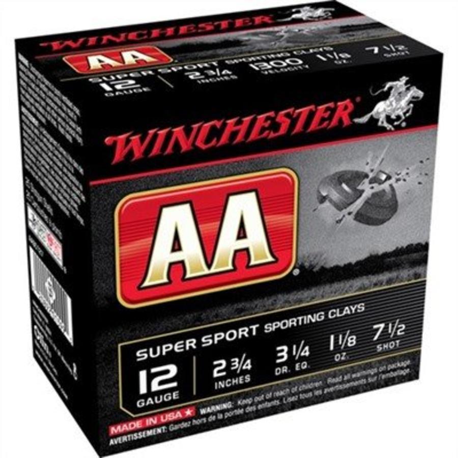 Winchester AA 12ga 2.75 #7 1/2 1-1/8oz 1300fps-Case