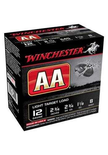 Winchester AA 12ga 2.75 #8 1-1/8oz 1145fps- Case