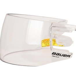 Bauer BAUER HDO PRO CLIP VISOR STRAIGHT CLEAR