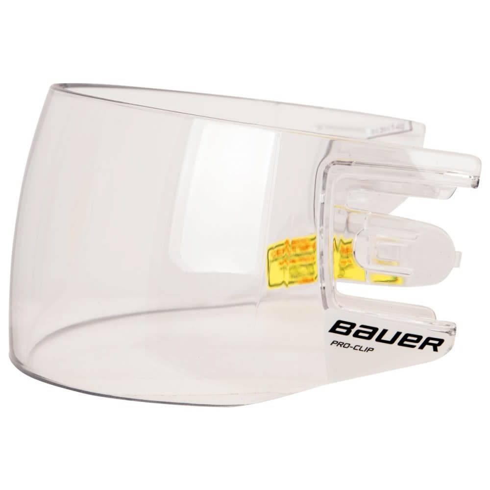 Bauer BAUER HDO PRO CLIP VISOR STRAIGHT CLEAR