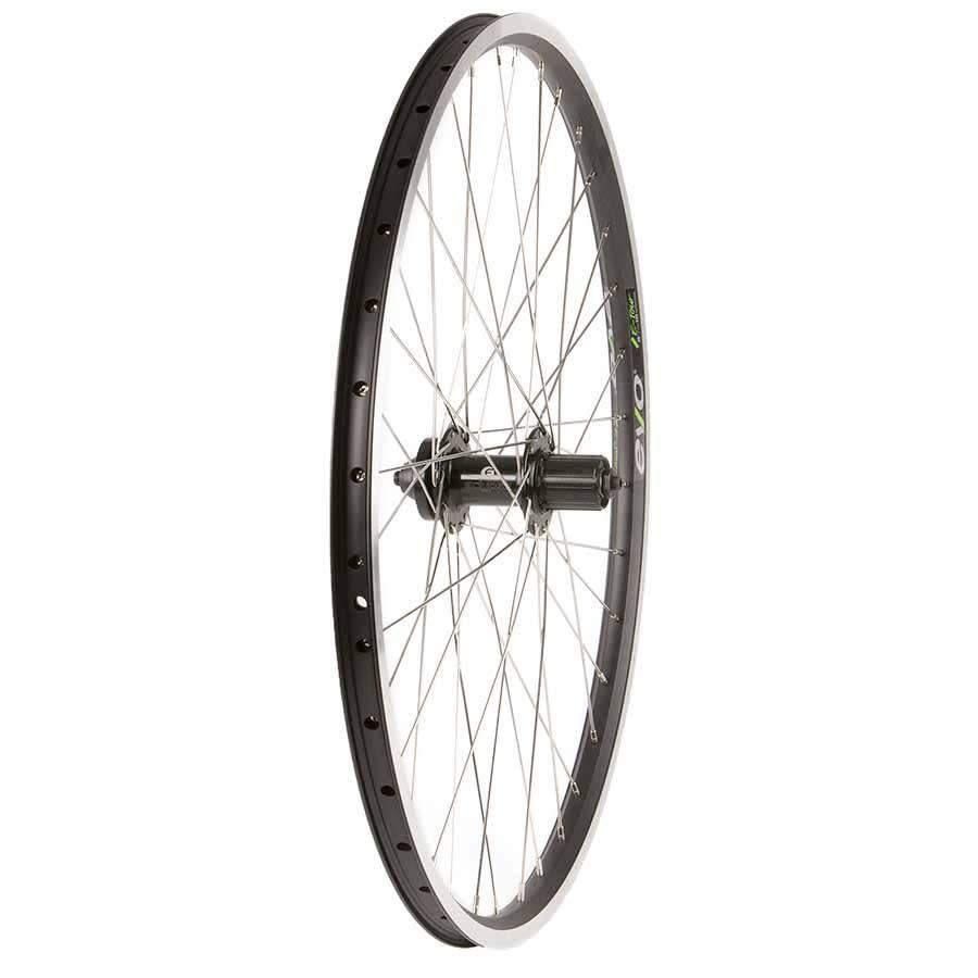 "Evo Wheel - Rear 26"" - 36h - Black alloy double wall - Formula DC 22 - QR - 8-10 spd - 6 bolt disc"