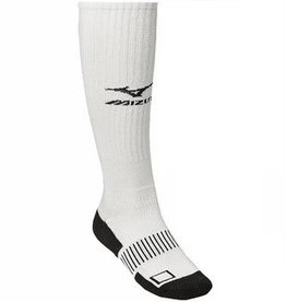 Mizuno MIZUNO PERFORMANCE PLUS KNEE HI SOCK - White LARGE