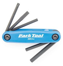 Park Tool Park Tool, AWS-9.2, Folding screwdriver/ hex wrench set, 4mm, 5mm, 6mm, Flat blade and T25