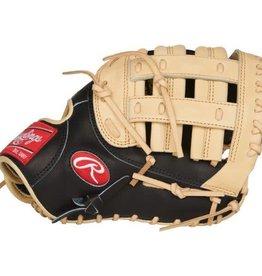 Rawlings Rawlings HOH First Base R2G 12.5 in Glove Black/Camel 12 1/2 RHT