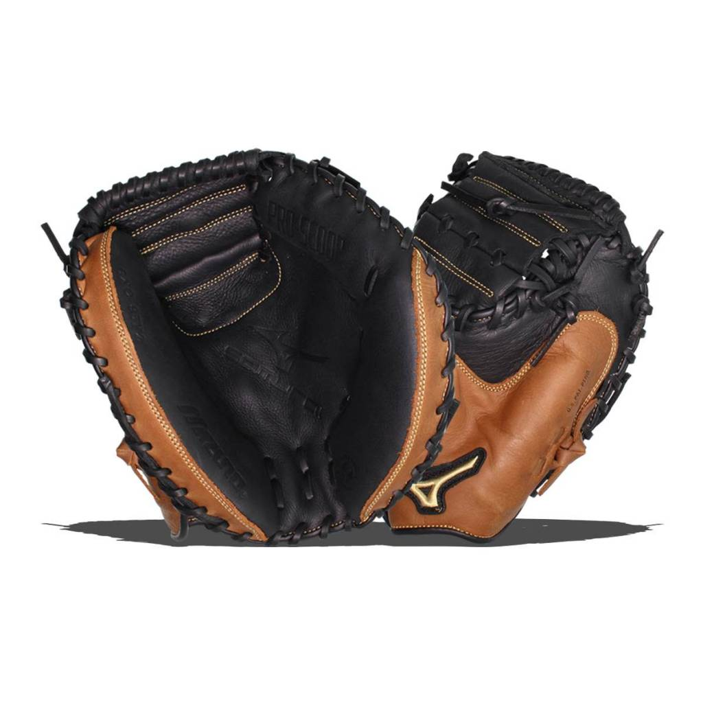 "Mizuno 2019 MIZUNO YOUTH GXC95Y2 SAMURAI CM CATCHERS MITT 33"" YTH BLACK-BROWN"