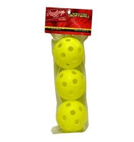 """Rawlings Rawlings Plastic Whiffle 12"""" balls (3 pack) TRAINING BALLS"""