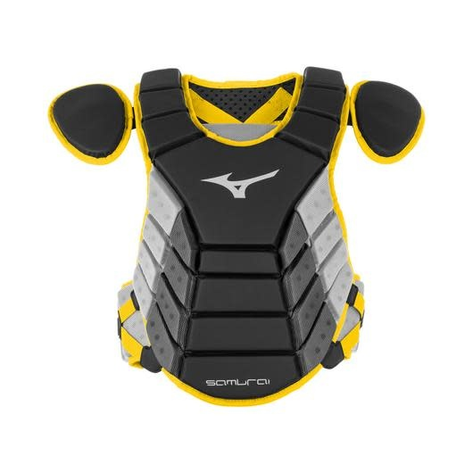 "Mizuno MIZUNO SAMURAI CP YOUTH CATCHERS CHEST PROTECTOR 14"" BLACK/YELLOW"