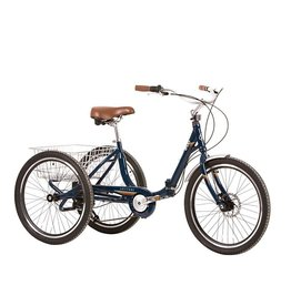 Evo EVO, Latitude Folding Trike, 8-Speed, Jamaica Blue, Universal One-Size