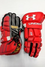 Under Armour UNDER ARMOUR PLAYER SS GLOVES LACROSSE GLOVES - RED MEDIUM