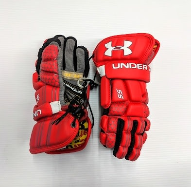 9f035ab617 UNDER ARMOUR PLAYER SS GLOVES LACROSSE GLOVES - RED MEDIUM