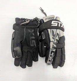 STX STX SHIELD GOAL GLOVE - Blk-Grey - Med 12""