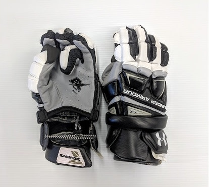 Under Armour UNDER ARMOUR ENGAGE FIELD GOALIE LACROSSE GLOVE - Blk/Wht/Grey - Large