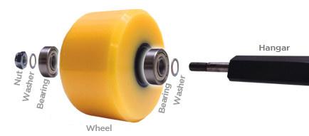 "Mini Logo Skateboard Axle ""Speed"" Washers - pack of 4"